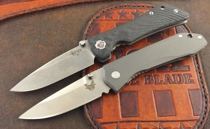 Benchmade - Pic request of the Southern Grind Spider Monkey and Benchmade 765 Mini Ti Mono lock. Both in stock at www.usamadeblade.com #southerngrind...